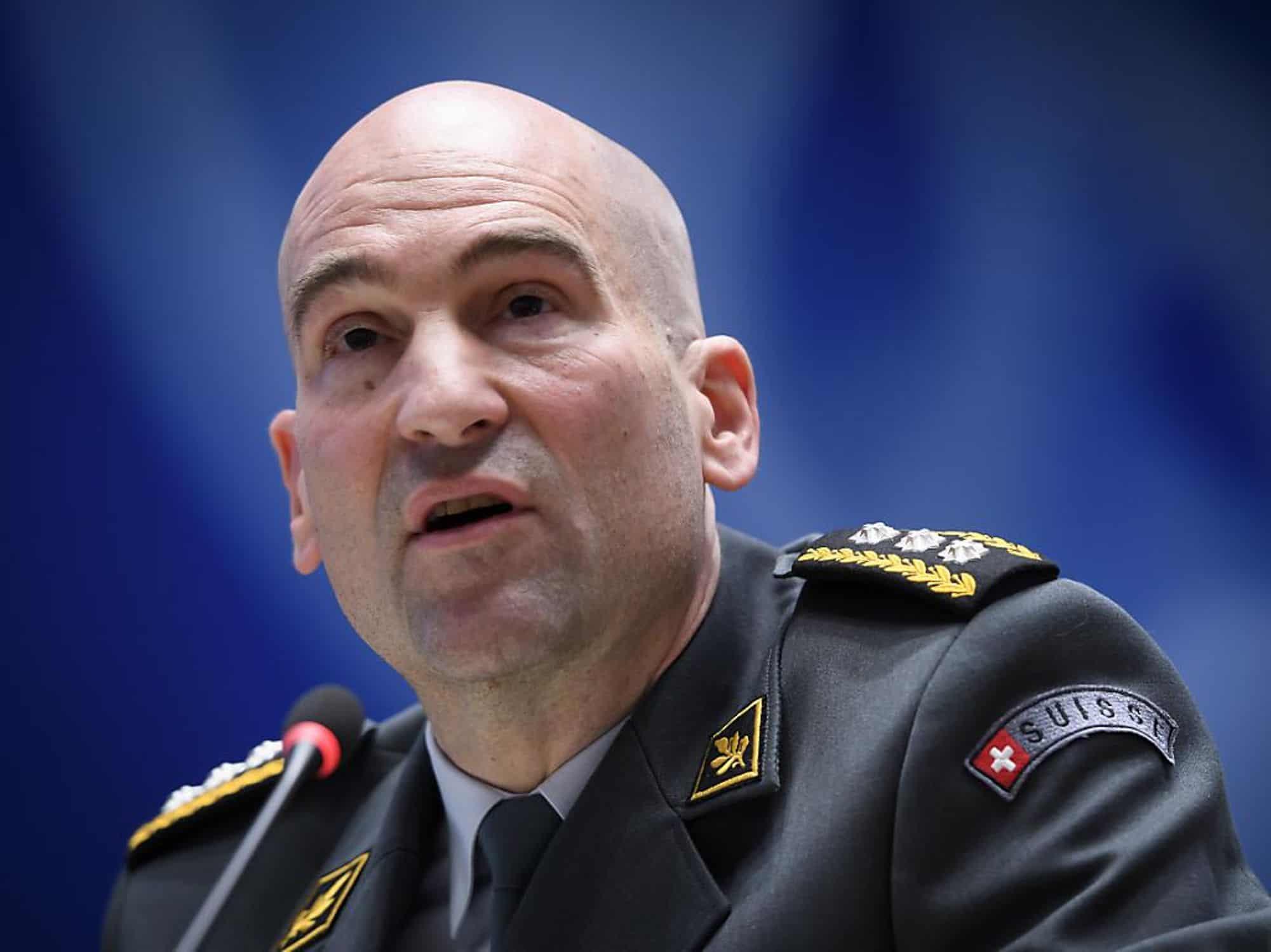 Thomas Suessli est à la tête de l'armée suisse depuis le 1er janvier 2020 (archives). KEYSTONE/ANTHONY ANEX