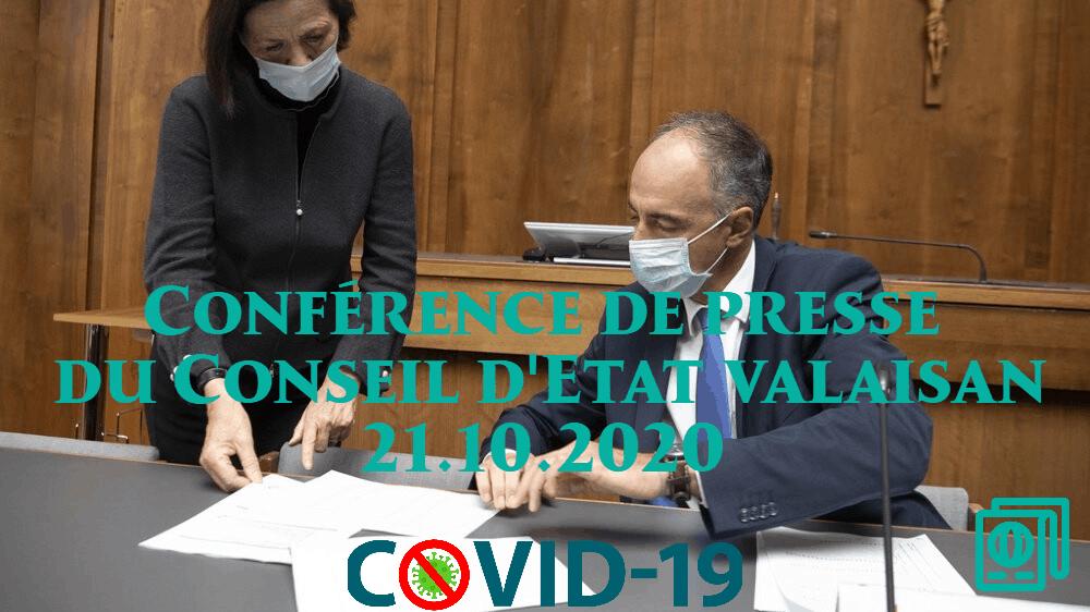 Conférence de presse du Conseil d'Etat valaisan – 21.10.2020