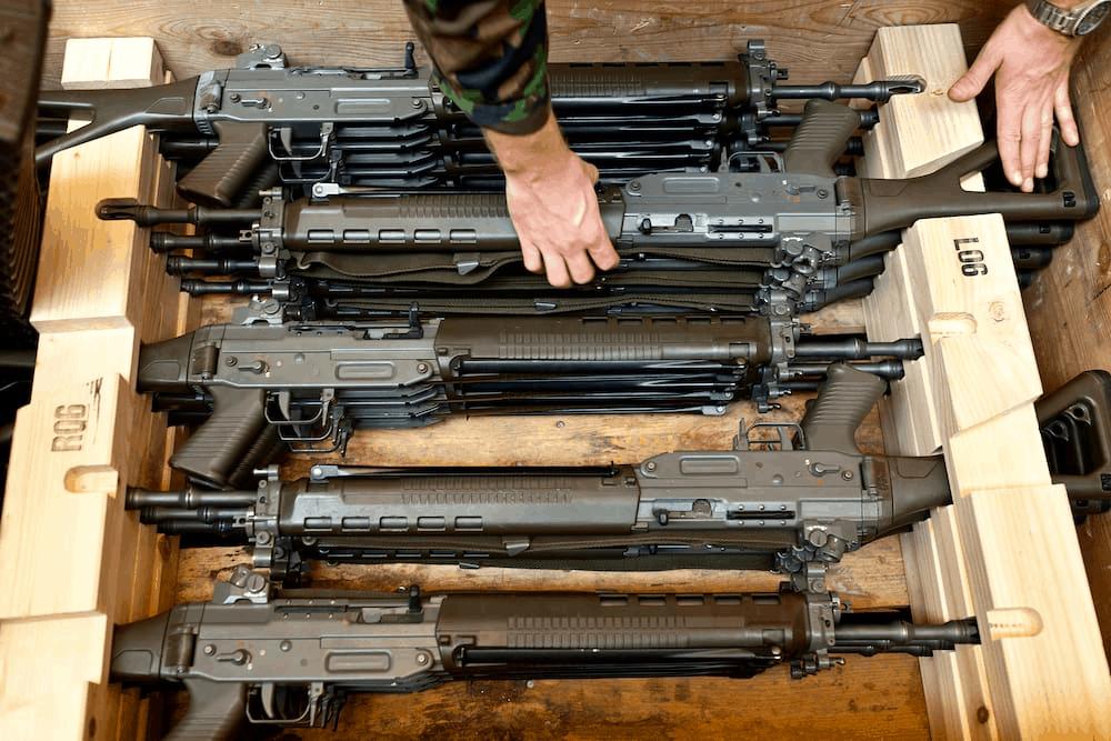 Septante armes de l'armée ont disparu en 2020