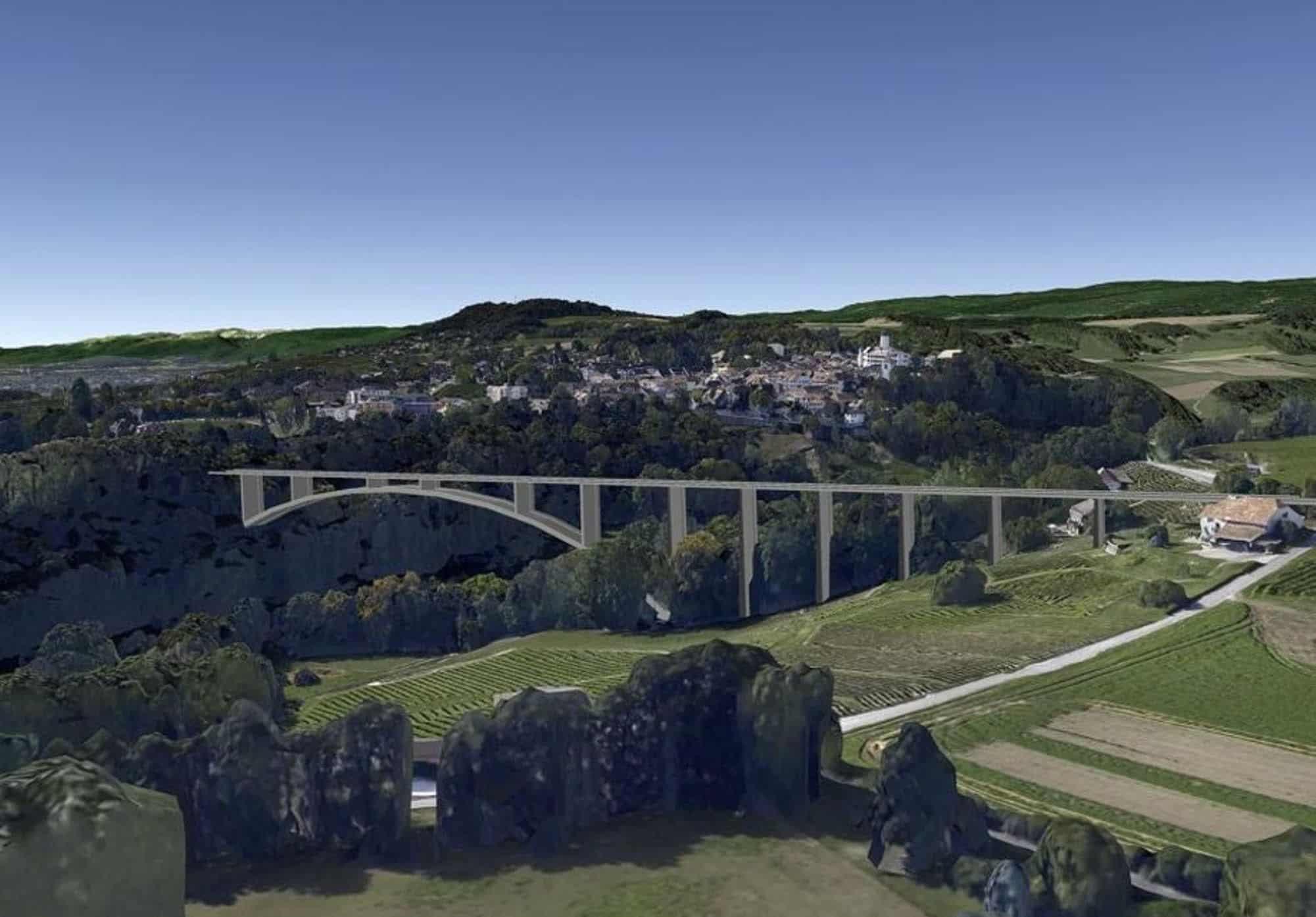 L'Exécutif s'est en effet pour la première fois prononcé en faveur d'un tracé qui favorise l'option du pont. DR