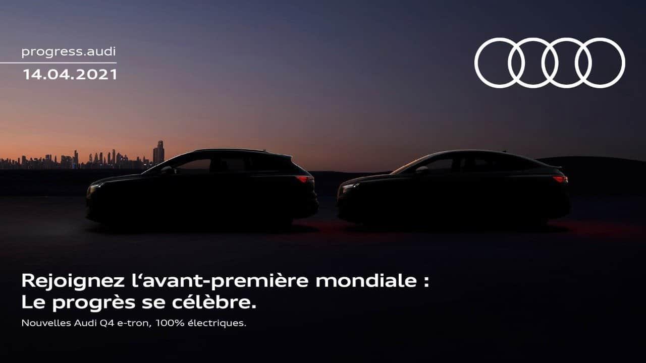 Audi Q4 e-tron 100% électriques