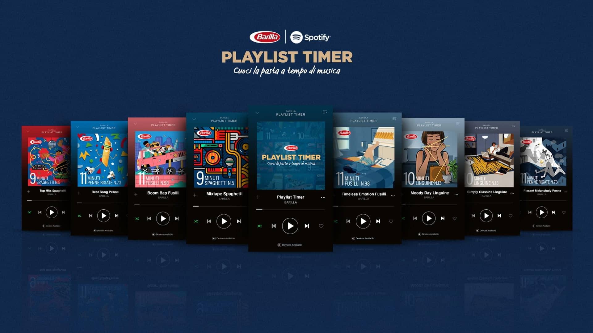 Barilla crée des playlists Spotify qui durent le temps de cuisson des pâtes