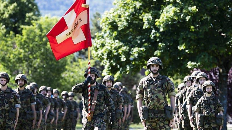 Le Bataillon Hôpital 2 a participé à la mobilisation de l'armée. (Archives) KEYSTONE/JEAN-CHRISTOPHE BOTT