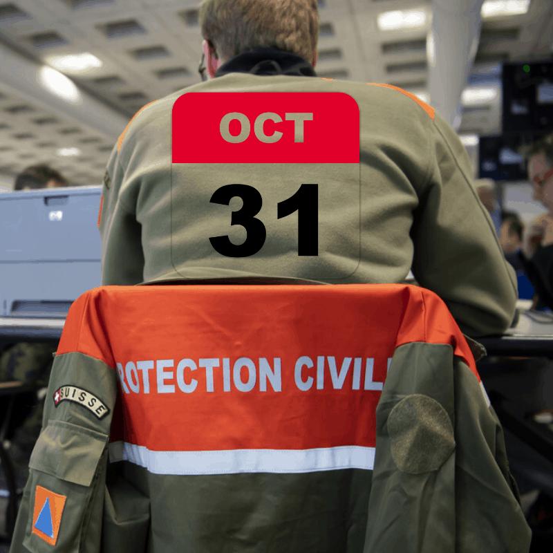Le Conseil fédéral prolonge la convocation de la protection civile au 31 octobre 2021