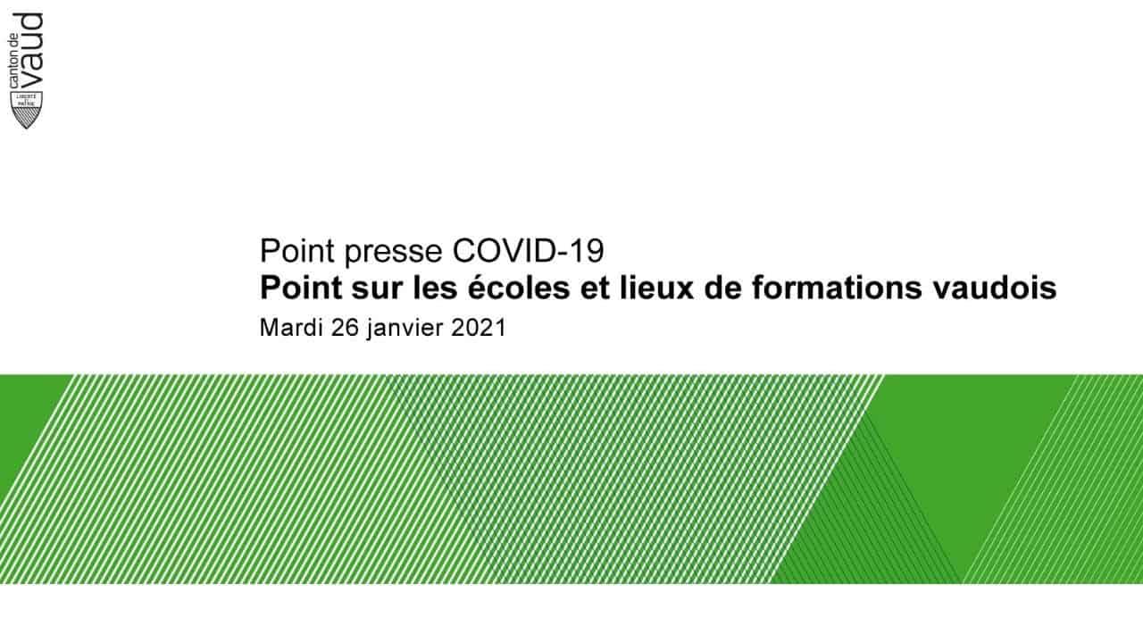 Conférence de presse COVID-19 : point sur les écoles et lieux de formations vaudois