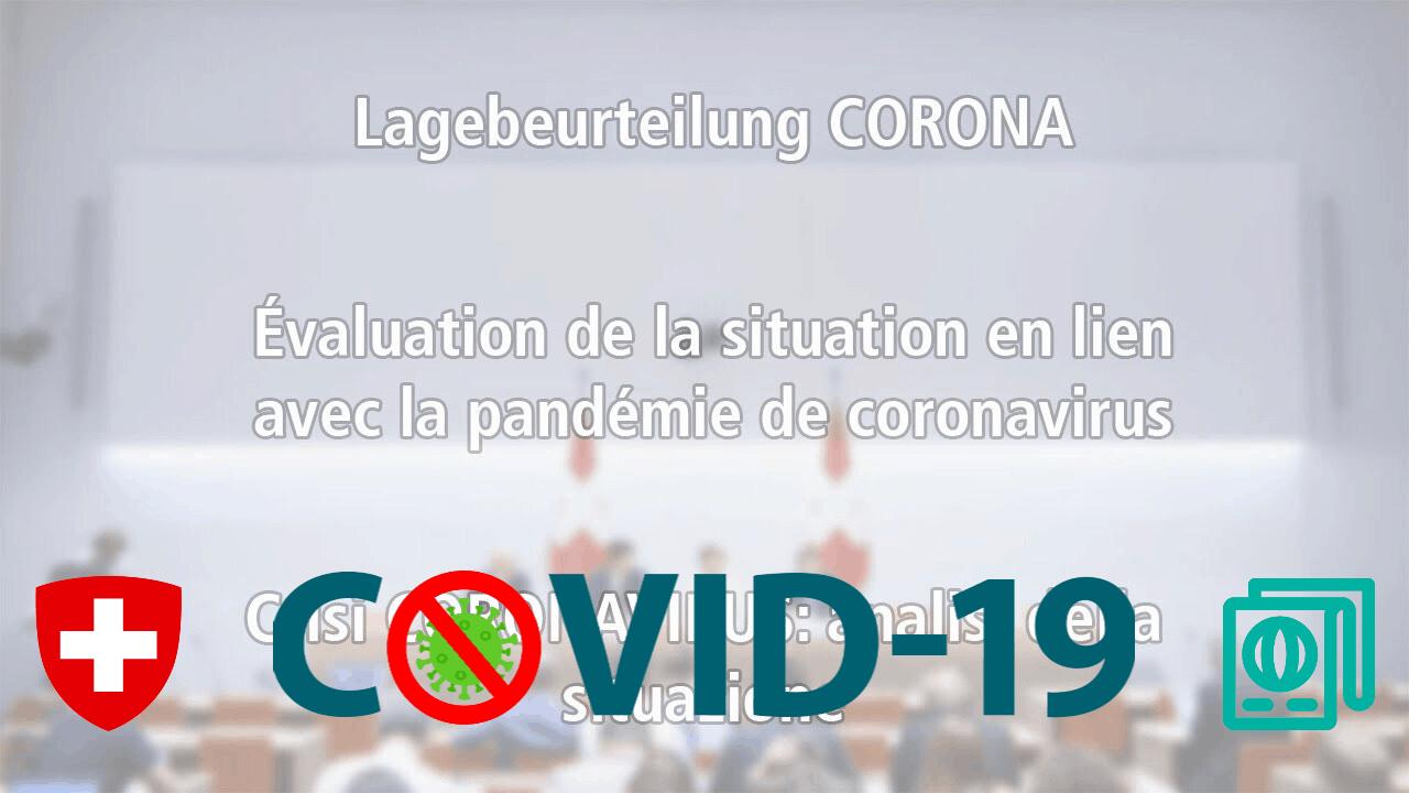 Conseil fédéral – Conférence de presse jeudi 15.10.2020 à 11h00