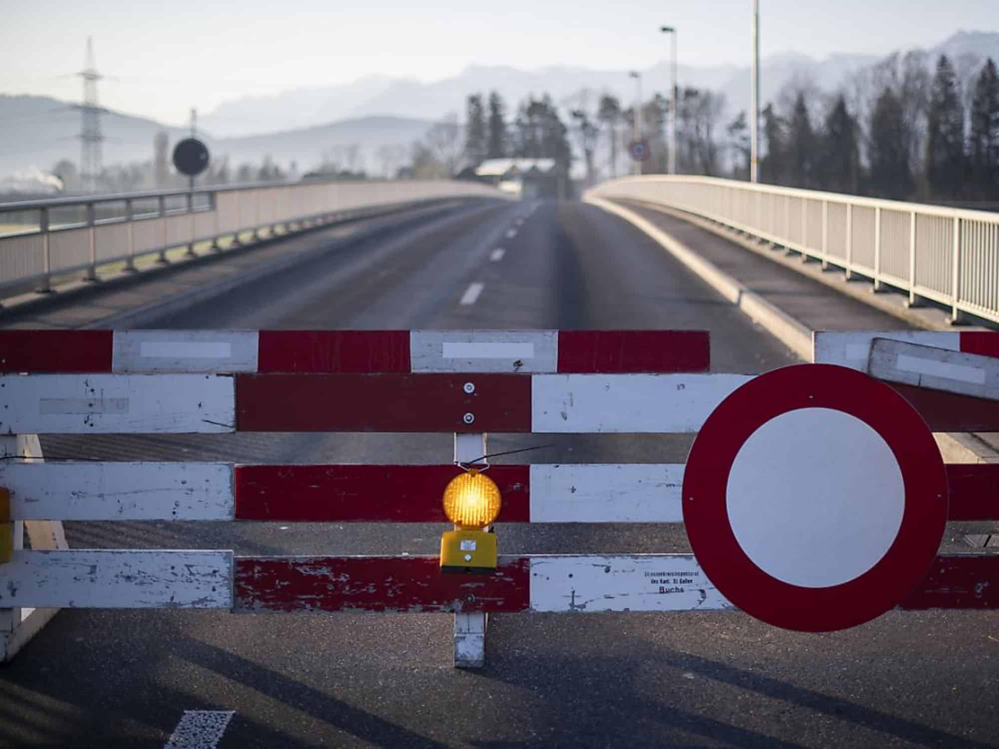 La frontière suisse avec l'Allemagne et l'Autriche seront à nouveau ouvertes à partir du 15 juin. (Keystone/archive).