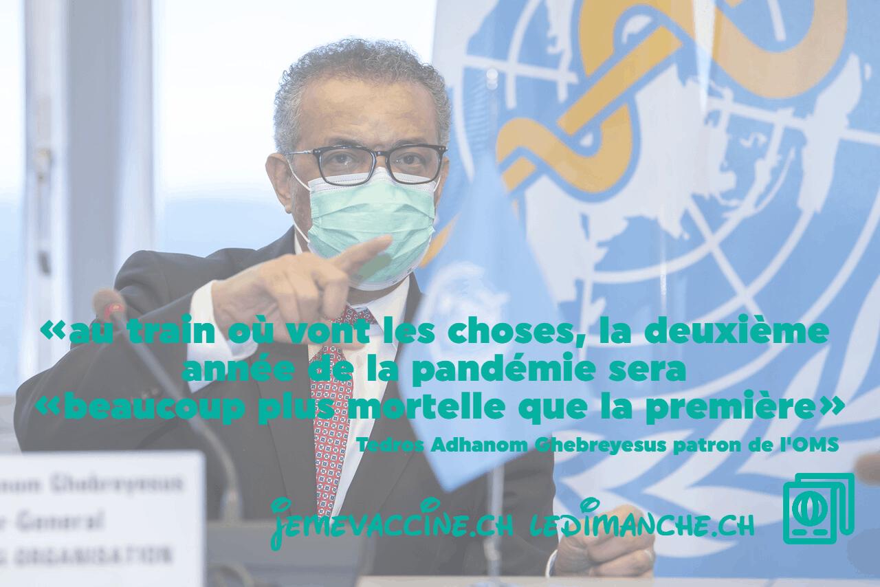 La 2e année de pandémie pourrait être «plus mortelle que la première»