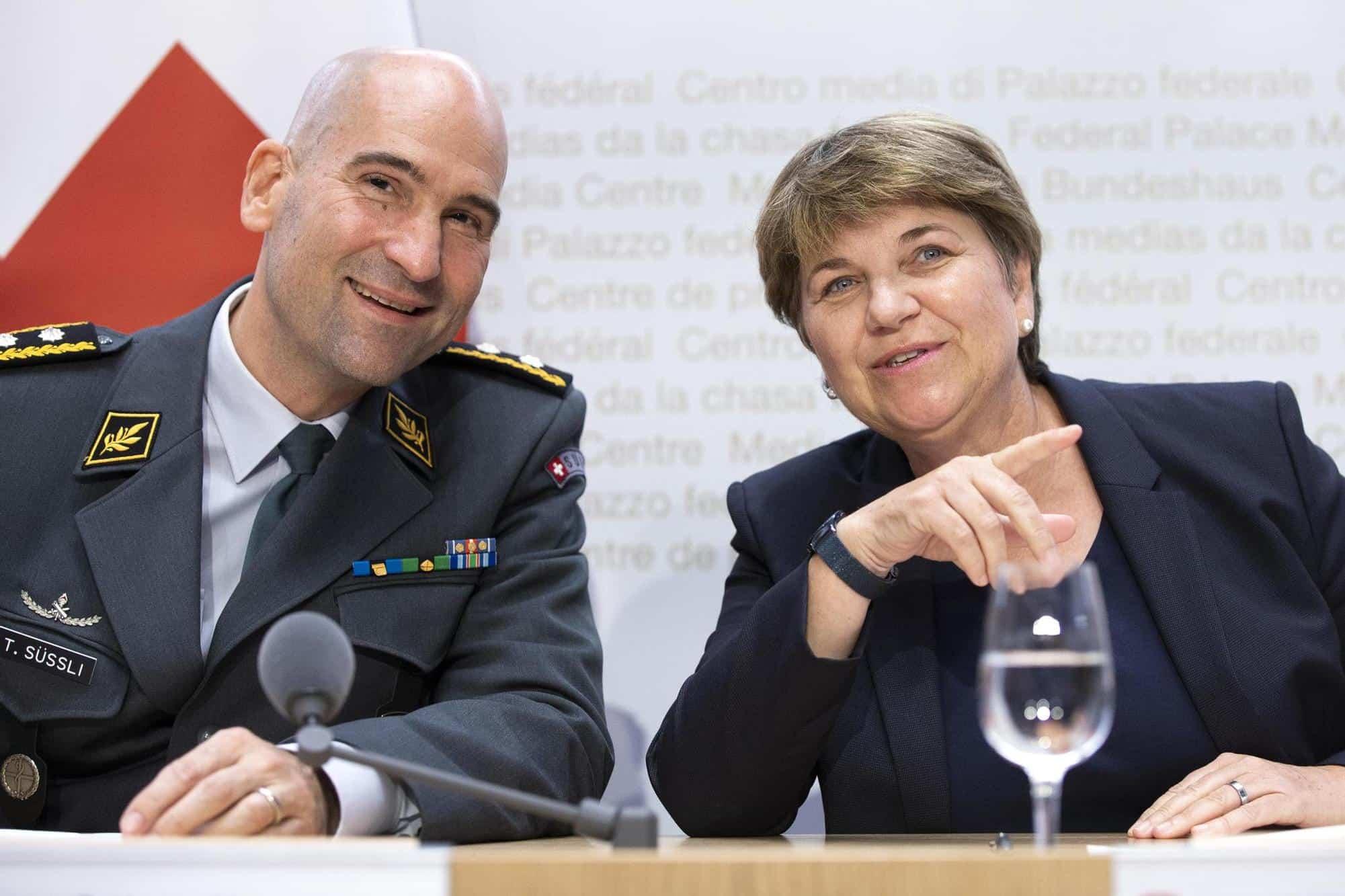 Thomas Süssli est depuis un peu plus d'une année à la tête de l'armée. Il a été nommé à cette fonction par la ministre de la Défense, Viola Amherd. Keystone