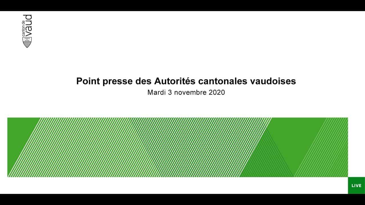 Point de presse du Conseil d'Etat – Mardi 3 novembre 2020
