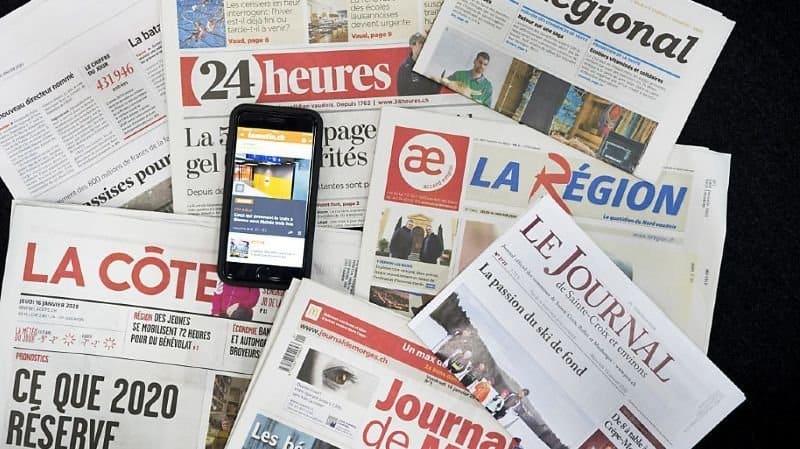 Le Régional faisait partie des gratuits de la presse romande (Photo prétexte). KEYSTONE/JEAN-CHRISTOPHE BOTT