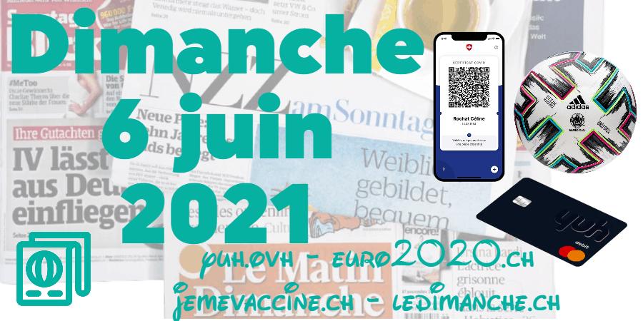 Revue de presse : adhésion à l'UE, vaccins anti-Covid, initiative UDC contre la SSR, YUH, Euro 2020 …