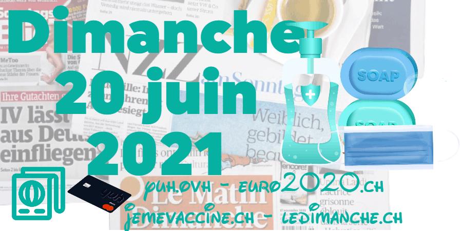 Revue de presse : coronavirus, accord-cadre et voyages en avion, EURO 2020, YUH …