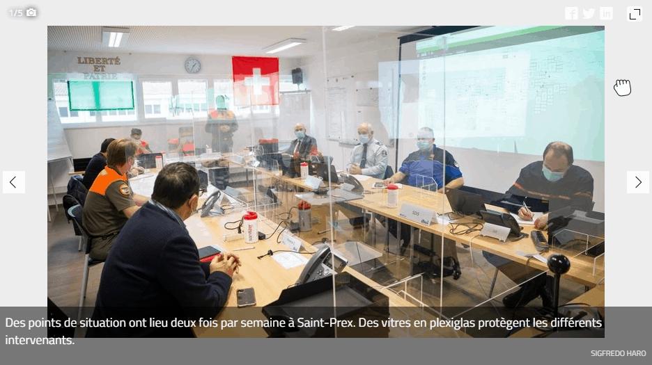 Saint-Prex QG de «l'opération Covid-2» pour La Côte