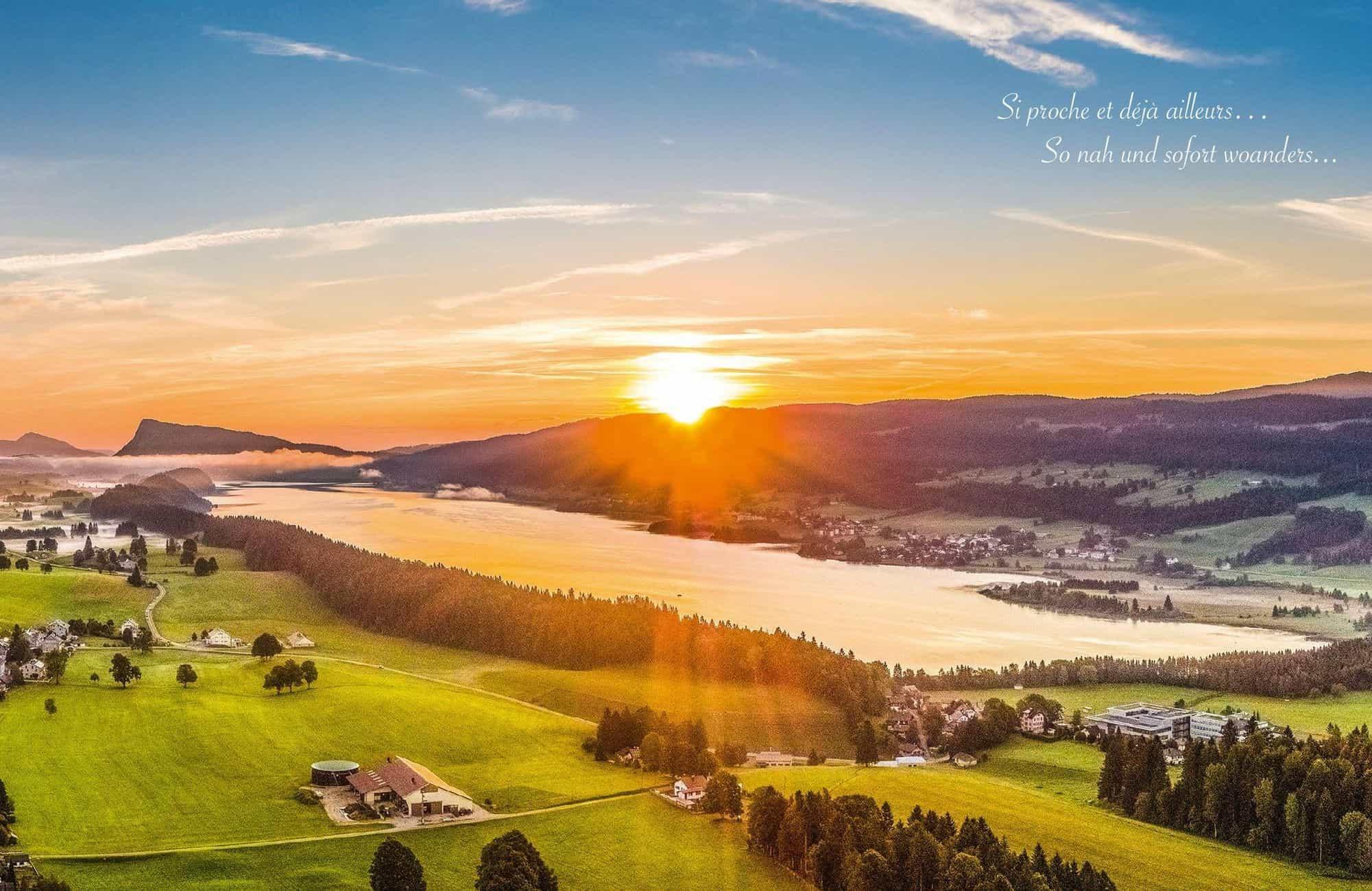 Les cartes postales vendent une image «nature» de la vallée de Joux. VALLEE DE JOUX TOURISME – DR