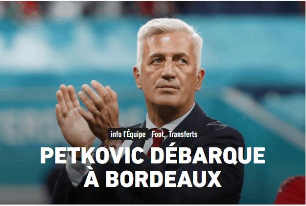Vladimir Petkovic nouvel entraîneur des Girondins de Bordeaux